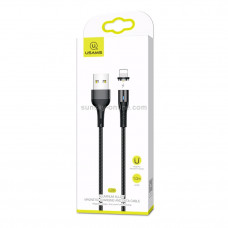 Кабель USB - Lightning USAMS U29 Aluminum Magnetic, 1.0м, круглый, 2A черный